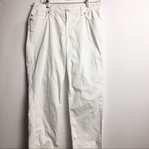 AK Anne Klein White Jeans Relaxed fit Size 8